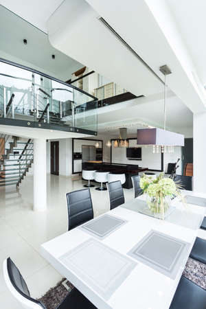 The luxurious and spacious interior of residence