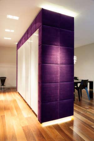 Big closet drubbing with soft violet stuff