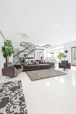 spacious: Spacious bright living room in huge property
