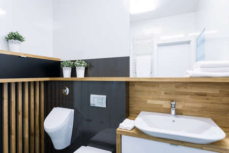 Interior of bathroom in modern apartment