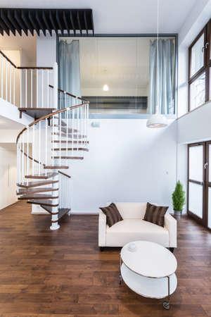 entresol: Interior of luxury living room in contemporary apartment