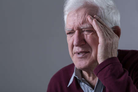 obsolescence: Old man feels pain in his temples