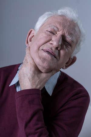 soreness: Senior with throat sore