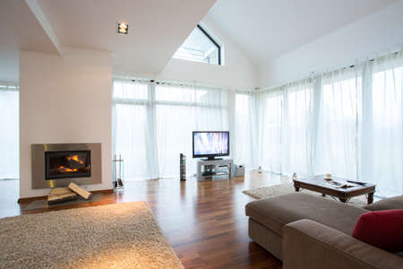 luxury apartment: Space for relax in modern luxury apartment Stock Photo