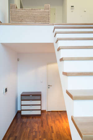 Vertical view of single-family home interior photo