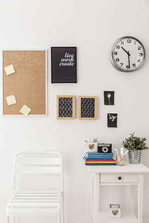 pin board: Pin board on wall in modern study space