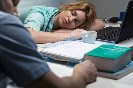 Overworked medical staff hasnt any place to rest