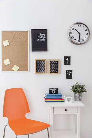 creative pictures: Study space with creative pictures on wall
