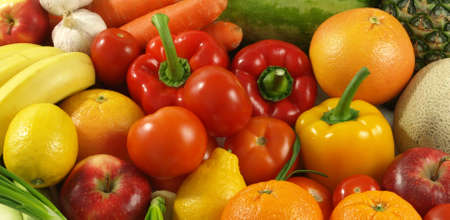 nutrients: Fresh, healthy and colorful fruits and vegetables