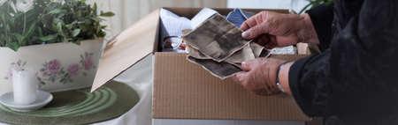 widow: Old woman is looking for good memories