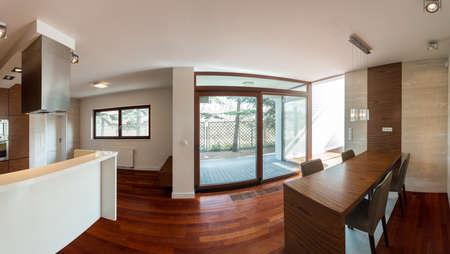 luxury living room: Beauty wooden living room in luxury style