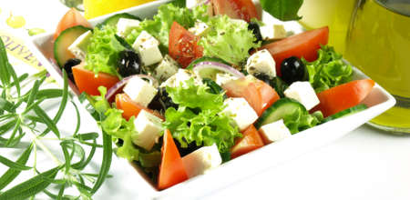 lowfat: Greek salad is a part of vegetarian diet