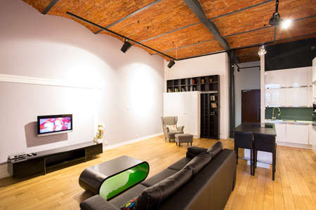 apartment living: Creative design of small living room in bachelor apartment