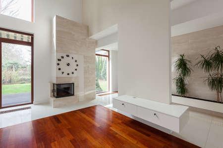 a detached living room: Designed living room in elegant detached house Stock Photo