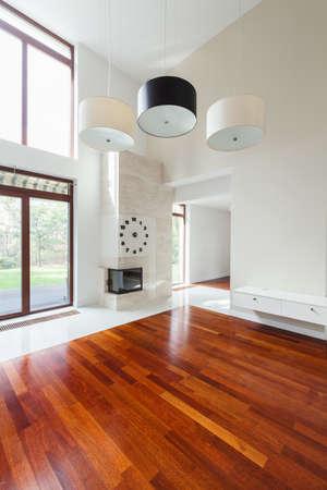 suelos: Sala de estar con estilo en la moderna residencia de lujo