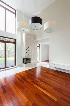 Stijlvolle woonkamer in moderne luxe residence Stockfoto