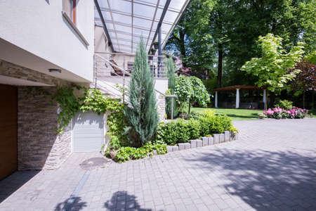 suburbs: Picture of luxury villa in the suburbs Stock Photo