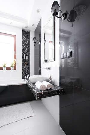 luxury bathroom: Interior of luxury bathroom in modern house