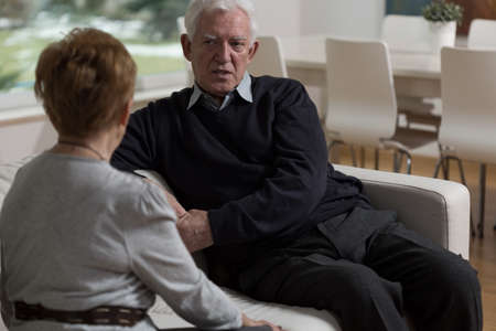 adulthood: Elder couple facing up to the problematic issue