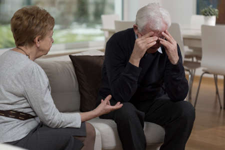 people problems: Elderly people having problems in their marriage