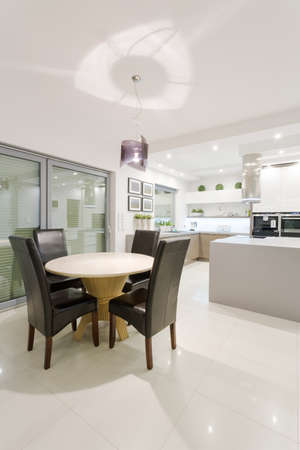 recessed: House interior with space arranged for dining