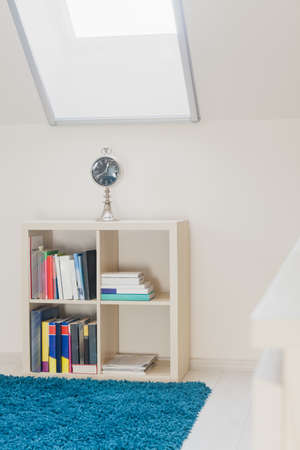 attic: Idea for arranging room in the attic for teenager Stock Photo