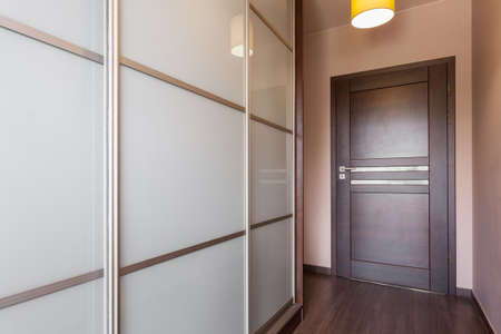 Horizontal view of big wardrobe in anteroom