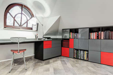 modern chair: Interior of modern study room for teenager