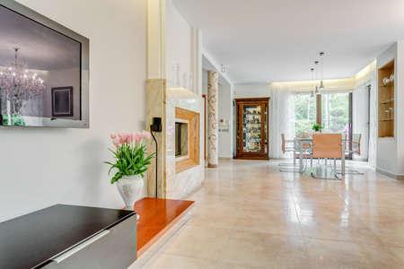Interior of modern exclusive mansion - horizontal view
