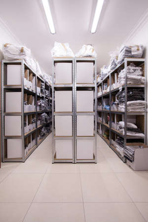storeroom: Picture of equipped stillages in the storehouse