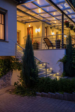 lightings: Villa with beauty terrace - view from outside