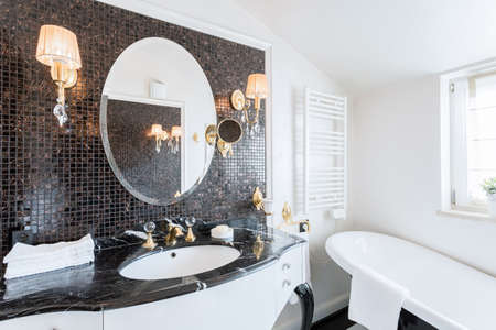 Baroque bathroom in the beautiful residence