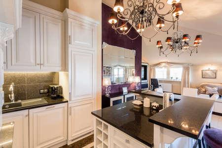 Luxe keuken in barokke huis Stockfoto - 42093814