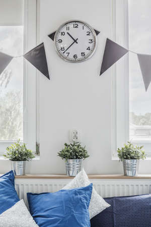 interior spaces: Close-up of designed space in teen room Stock Photo