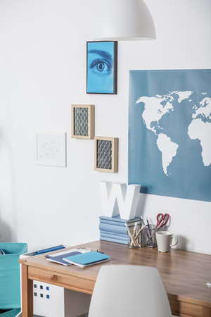Modern place for study in teenagers room Stock Photo