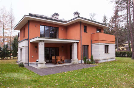 Front of modern detached house for sale