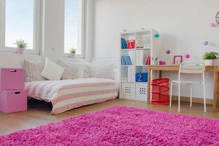 wooden bed: Big modern designed space for little children