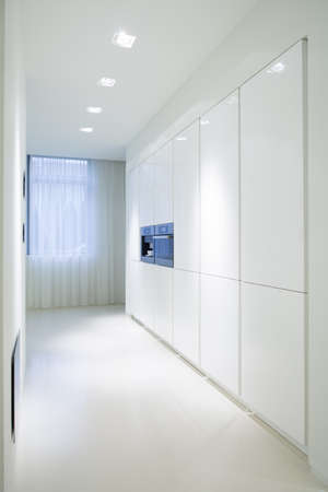 cupboards: Picture of white cupboards in luxury kitchen