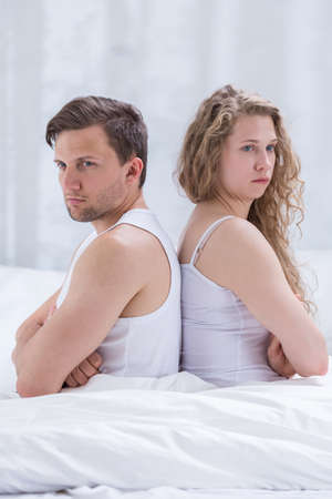 nude wife: Image of disagreement beetwen frustrated wife and husband