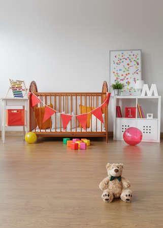 Foto prostorný dítě interiér pokoje s hračkami