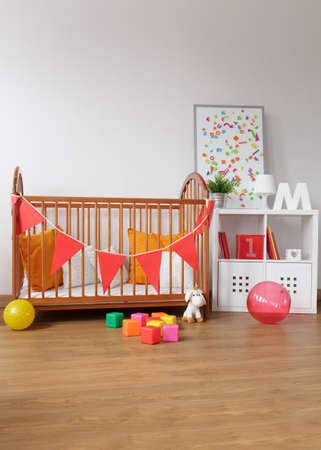 babygirl: Picture of contemporary wooden furniture in babygirl room