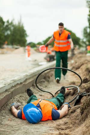 accidente trabajo: Cuadro de lesiones mortales en el lugar de trabajo