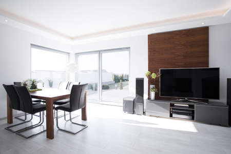 areas: Bright and sunny dining area in the house