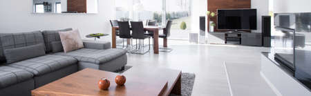 roomy: Modern and roomy living room in the house