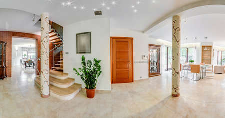 tasteful: Light and tasteful hallway in the house Stock Photo