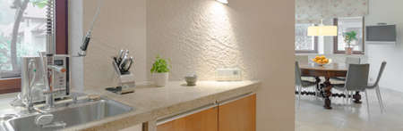 practical: Modern and practical sink in the kitchen