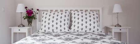 designed: Modern bedroom designed in white cold color