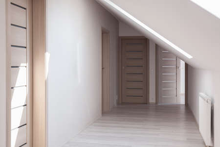 commodious: Simple home hallway design idea in neutral colors