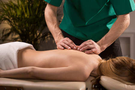 reduces: Medical massage that reduces level of stress and tension