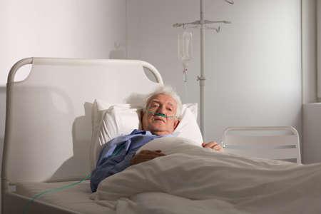Seriously ill senior man staying in hospice Zdjęcie Seryjne